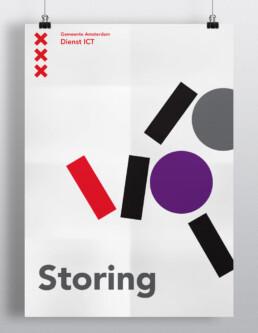 Affiche / poster design grafisch ontwerper Carmen Nutbey uit Amsterdam