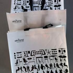 Ahrend draagtas met silhouetten, illustratie structuur / NUTBEY DESIGN