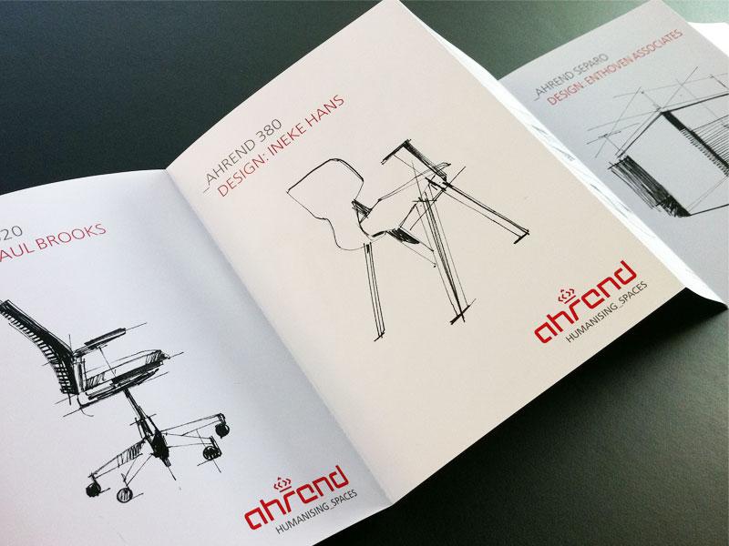 Ahrend productfolder tbv design biënnale Kortrijk