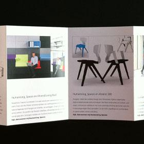 Ontwerp Ahrend productfolder design biënnale Kortrijk designer Carmen Nutbey