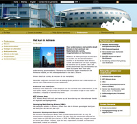 visual design Website Gemeente Almere Ondernemen