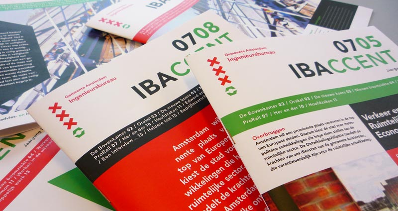 Gemeente Amsterdam Ingenieursbureau IBA - vormgeving Magazines