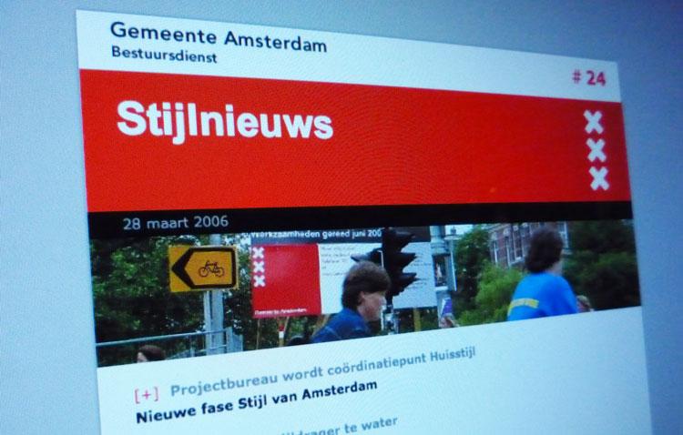 Amsterdam hoofdontwerp digitale nieuwsbrief