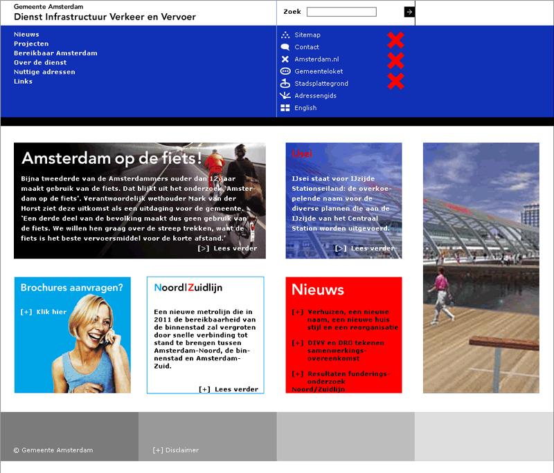 Amsterdam branding Dienst IVV - website
