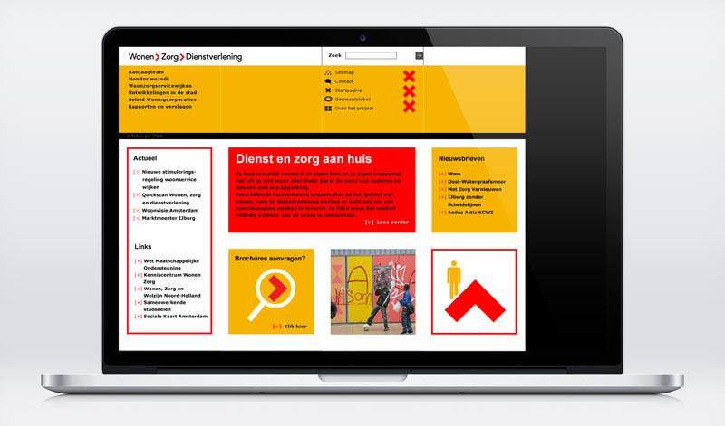 Grafisch ontwerp homepage
