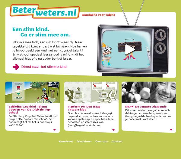 logodesign, visual design webontwerp homepage Beterweters webdesigner Carmen Nutbey