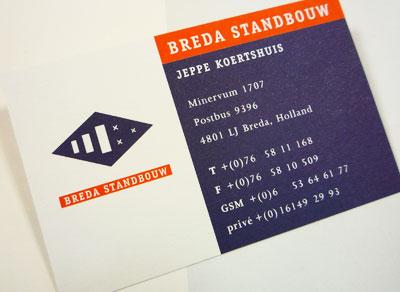 Visitekaartje en Beeldmerk Breda Standbouw