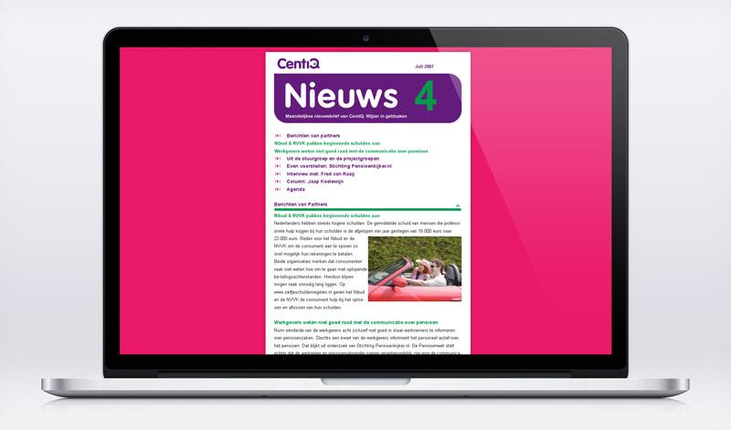 e-zine newsletter nieuwsbrief online visual design nutbey