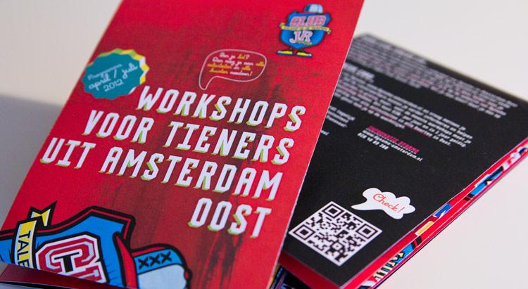 vormgeving en ontwerp maandladder en poster Club Junior
