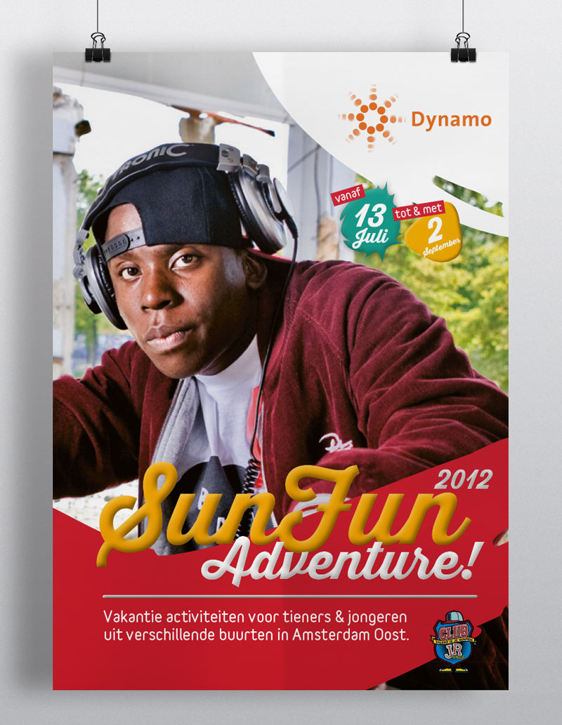Visual Design poster en programma SunFun Adventure