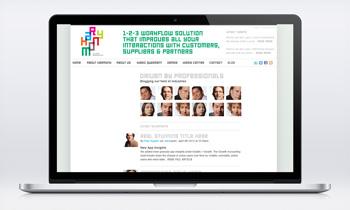 Web design online portal Carmen Nutbey Amsterdam
