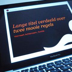 grafisch ontwerp corporate powerpointpresentatie