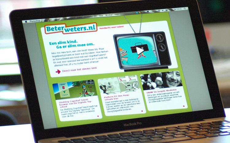 beeldmerk web-ontwerp-homepage-design-Beterweters-Acadin-Kennisnet