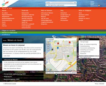 visueel ontwerp webdesign webontwerp volgpagina Gemeente Lelystad