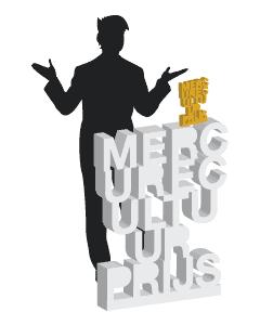branding, spreektafel volgens ontwerp Mercure Cultuurprijs