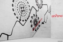 mural design pattern patronen corporate illustratie designer carmen nutbey amsterdam friso kramer revolt stoel