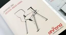 Ahrend Productflyer voor designbeurs Kortrijk
