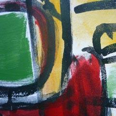 trumpets detail painting dutch artist Carmen Nutbey