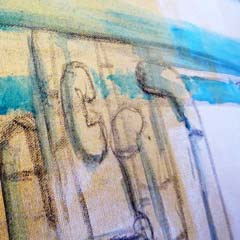 detail schilderij kunstenaar Carmen Nutbey