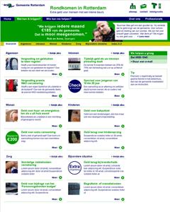 webontwerp overzichtspagina website Rondkomen in Rotterdam nutbeydesign