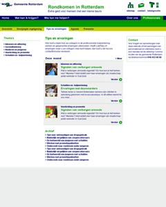 Design contentpagina Rondkomen in Rotterdam nutbeydesign