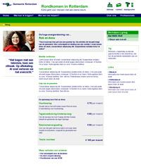 Web Design contentpagina Rondkomen in Rotterdam webontwerp Carmen Nutbey