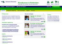 Ontwerp overzichtspagina website Rondkomen in Rotterdam nutbeydesign