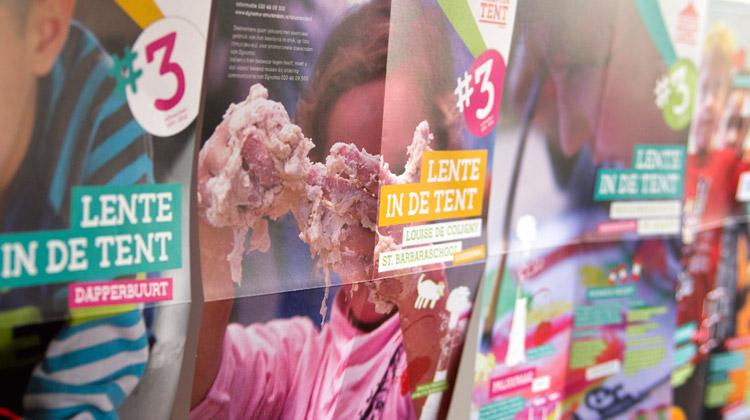 ontwerp serie affiches, posters en programma Talententent naschoolse opvang