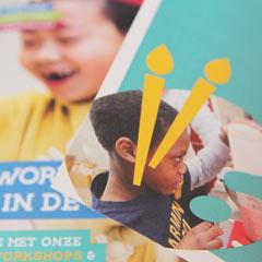 grafisch ontwerp leaflet flyer maandladder nutbeydesign
