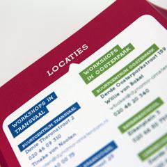 vormgeving leaflet folder flyer nutbeydesign amsterdam