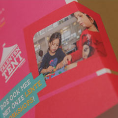 visua; design leaflet folder carmen  nutbey amsterdam