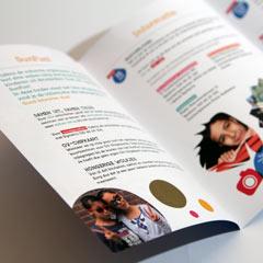 graphic design leaflet carmen nutbeydesign