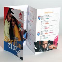 grafisch ontwerp flyer programma sunfun