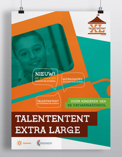 affiche, branding, talententent xl, carmen nutbey design amsterdam