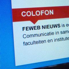 Vormgeving Vrije Universiteit Amsterdam digitale nieuwsbrief