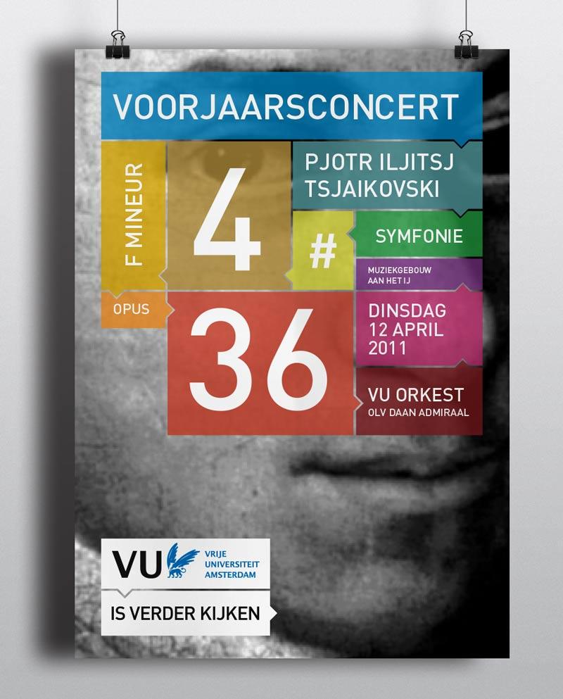 Affiche abri poster VU Amsterdam branding