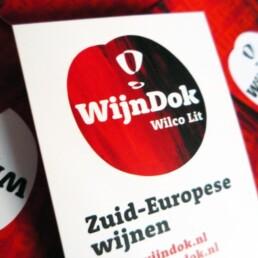 ontwerp visitekaartje en beeldmerk WijnDok