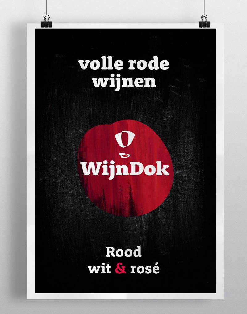 WijnDok poster; visual designer nutbeydesign Amsterdam
