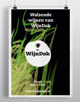 WijnDok affiche; grafisch ontwerper nutbeydesign Amsterdam