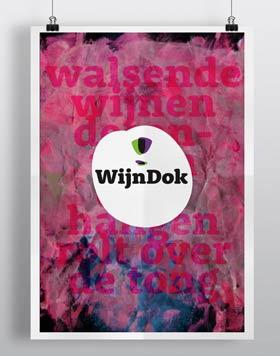 brand design visual reclame poster wijndok