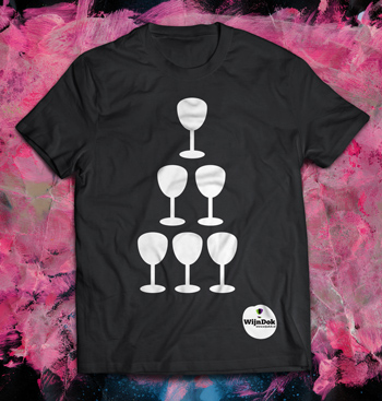 Wijndok t-shirtWijnDok affiche; grafisch ontwerper Carmen Nutbey Amsterdam