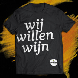 visual design t-shirt wijndok