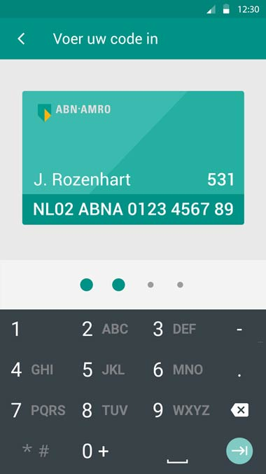 abn amro wallet user interface designer carmen nutbey amsterdam material design