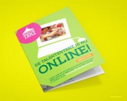 programmaboekje flyer talententent dynamo grafisch ontwerper carmen nutbey nutbeydesign amsterdam