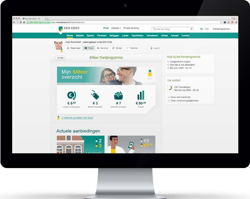 gui design dashboard abn amro klantprogramma