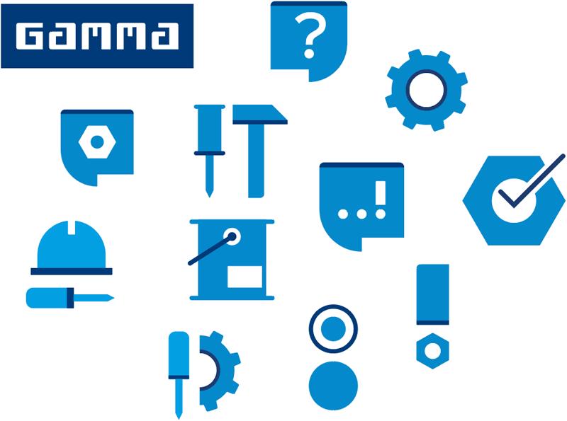 custom made iconen voor gamma door ontwerper nutbeydesign uit amsterdam