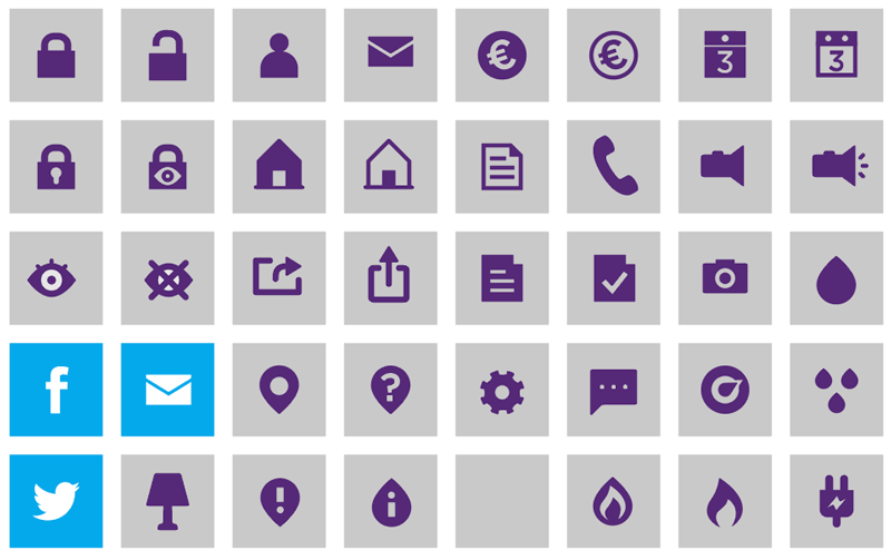 nuon energie bedrijf iconen app nutbeydesign amsterdam