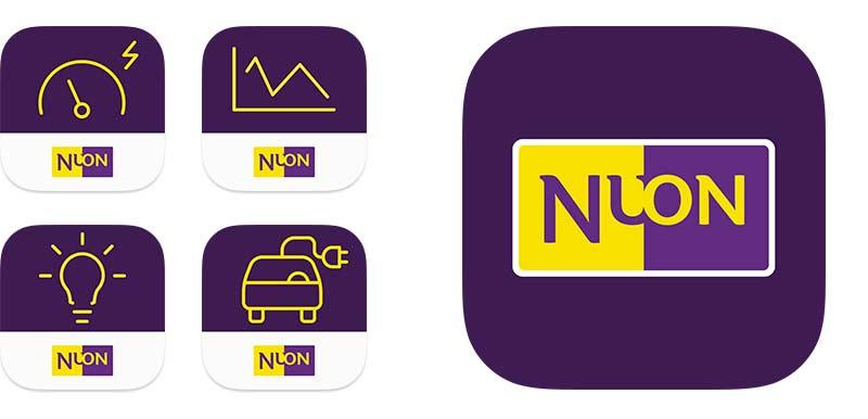 app iconen voor nuon ux-designer nutbeydesign amsterdam