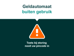 geldautomaat storing user interface ontwerp nutbeydesign amsterdam visual digital design Carmen Nutbey