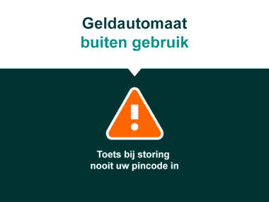 geldautomaat storing user interface ontwerp nutbeydesign amsterdam
